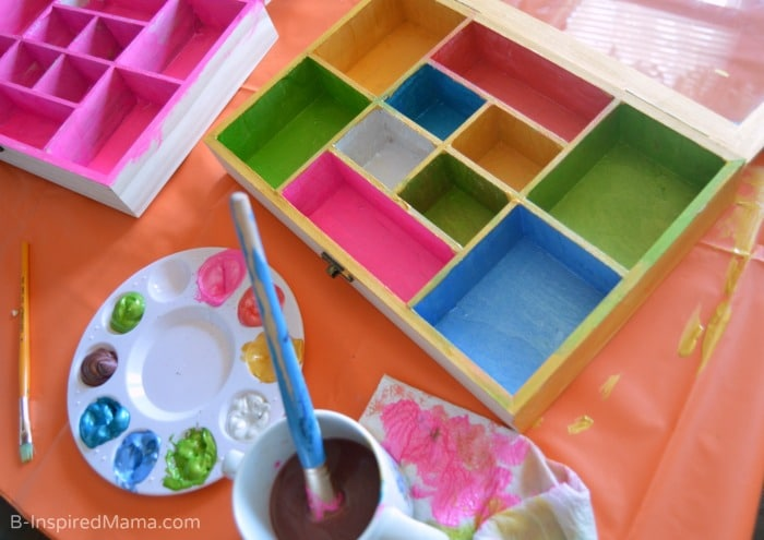 Collection Box Kids Craft - Painting Inside - at B-Inspired Mama