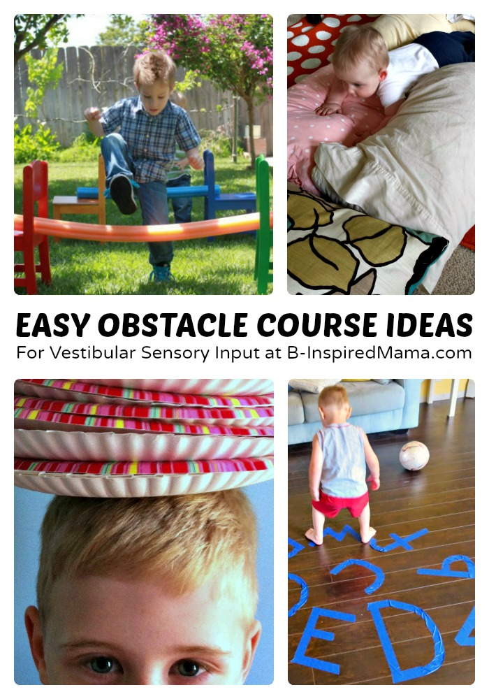 rolling kitchen chairs handles for cabinets easy kids obstacle course ideas + 6 days of sensory play