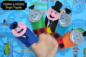 Thomas & Friends Finger Puppets - DIY Toys from Crayon Box Chronicles at B-Inspired Mama