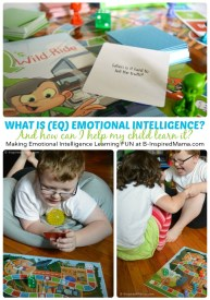 What is Emotional Intelligence (EQ) + A Board Game for Making Emotional Intelligence Practice Fun at B-Inspired Mama #ad #PMedia #QsRaceToTheTop