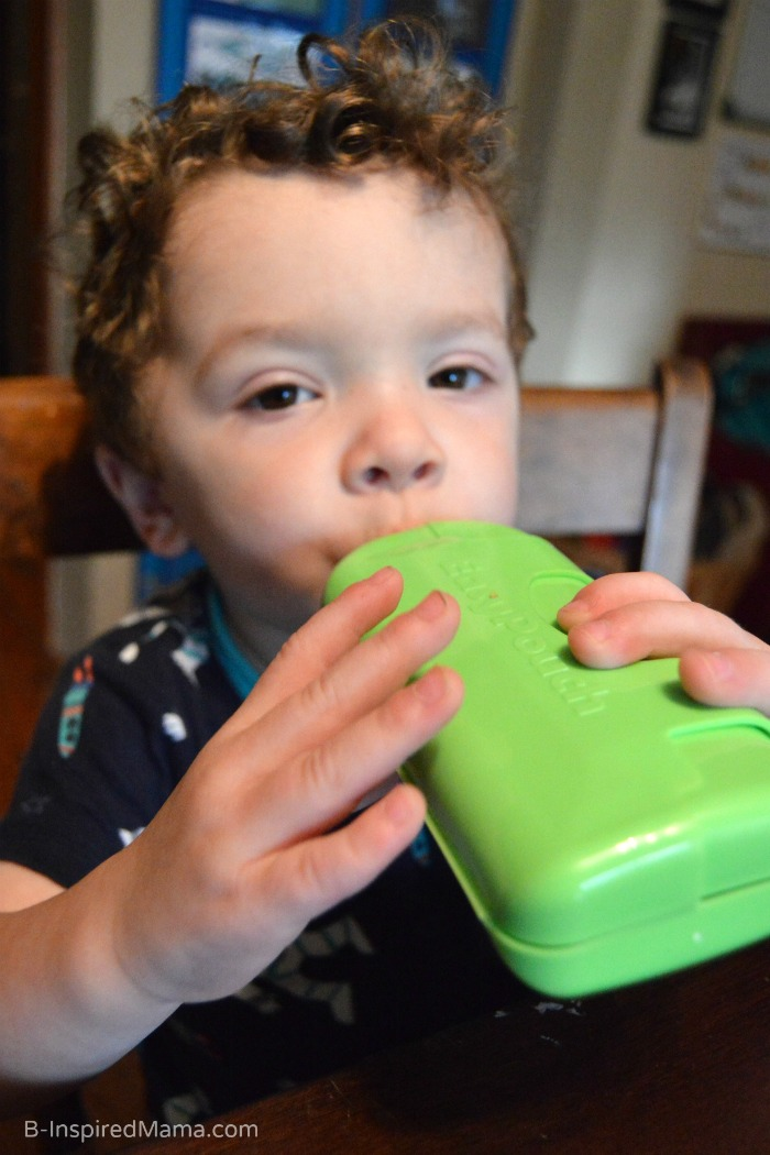 Make Toddler Feeding Less Messy with EasyPouch - #sponsored B-Inspired Mama
