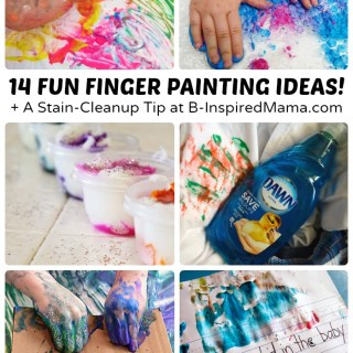 Super Fun Finger Painting Ideas + A Cleanup Trick