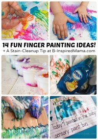Super Fun Finger Painting Ideas + A Cleanup Trick | B ...