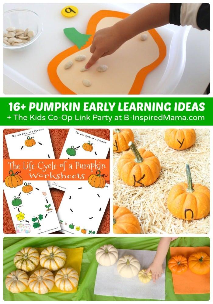 16+ Pumpkin Themed Early Learning Ideas for Preschoolers