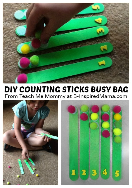 DIY Counting Sticks Busy Bag