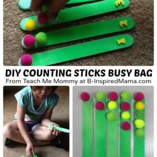 DIY Counting Sticks Busy Bag