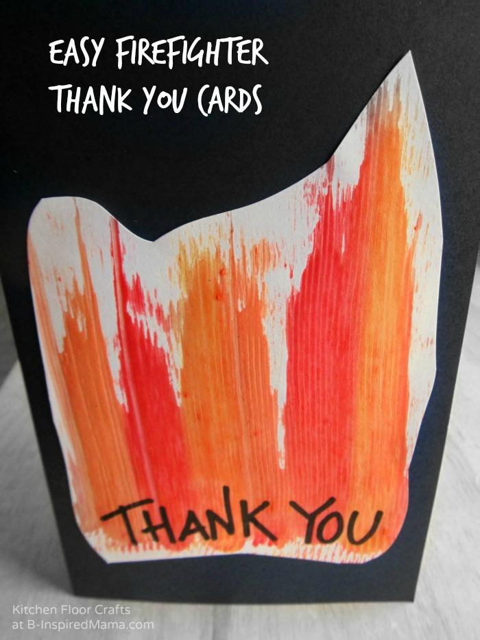 Making Homemade Cards for Firefighter