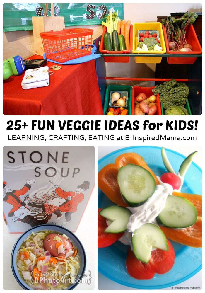 Vegetables for Kids - Ideas for Making Them FUN and Tasty at B-Inspired Mama [#sponsored #ILikeVeggies #CleverGirls]
