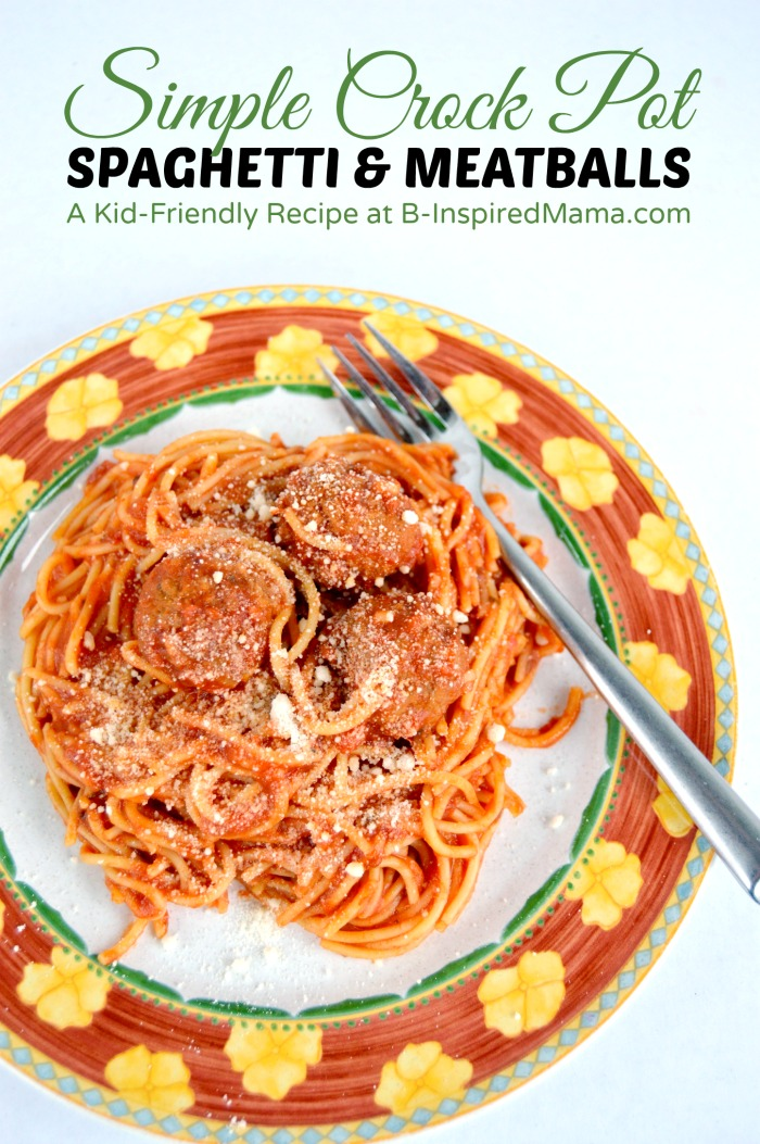 Simple Crock Pot Spaghetti and Meatballs