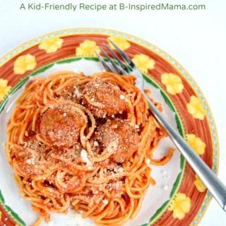 Simple Crock Pot Spaghetti and Meatballs