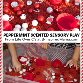 Christmas Peppermint Rice Sensory Play