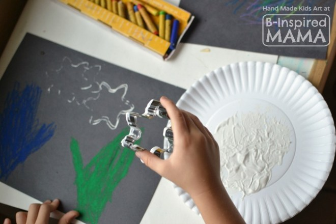 Catch a Snowflake - An Art Project for Kids - Painting Snowflakes - at B-Inspired Mama