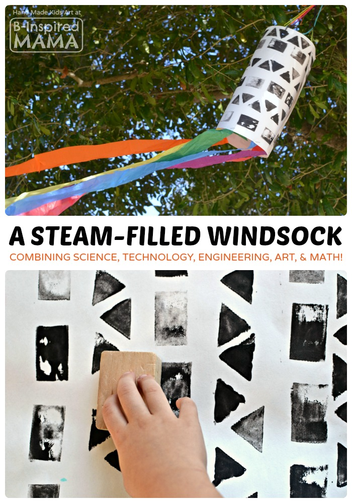 A STEAM Filled Windsock Art Project for Kids