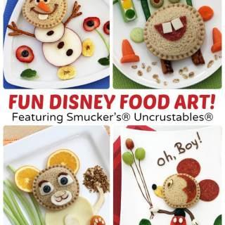 Kids in the Kitchen – Disney Uncrustables Food Art