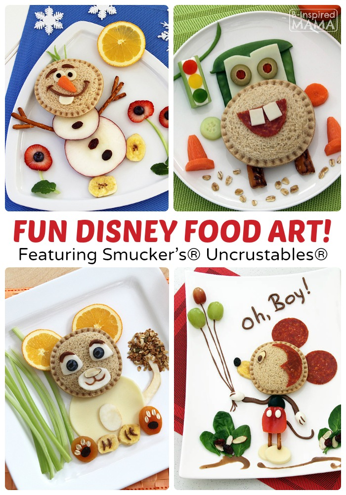 kids in the kitchen - disney uncrustables food art | b-inspired mama