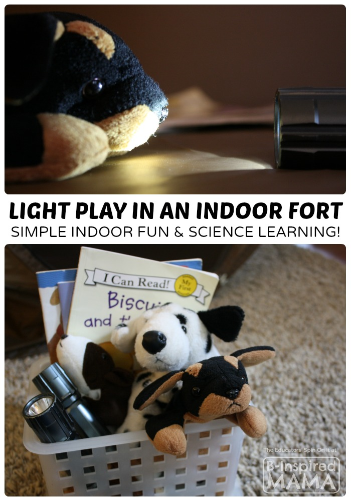 Indoor Play – Exploring Light in a Kids Fort