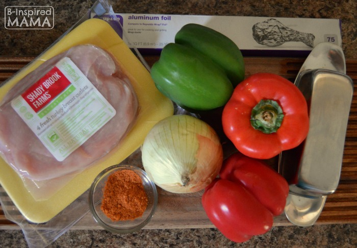 Ingredients - Simple Turkey Fajitas Foil Packet Recipe at B-Inspired Mama
