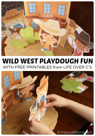 Kids Wild West Playdough Fun with Free Playdough Printables at B-Inspired Mama