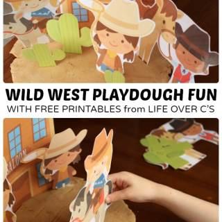 Wild West Playdough Printables