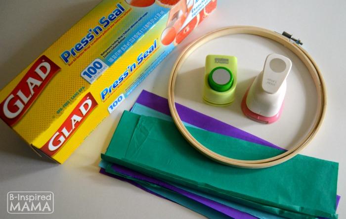 A Simple Circles Suncatcher Summer Craft - Supplies - B-Inspired Mama