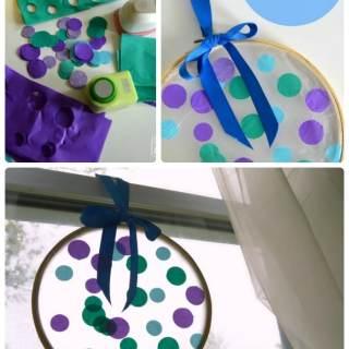 Circles Suncatcher Summer Craft