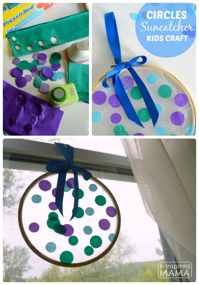 Circles Suncatcher Summer Craft for Kids - B-Inspired Mama