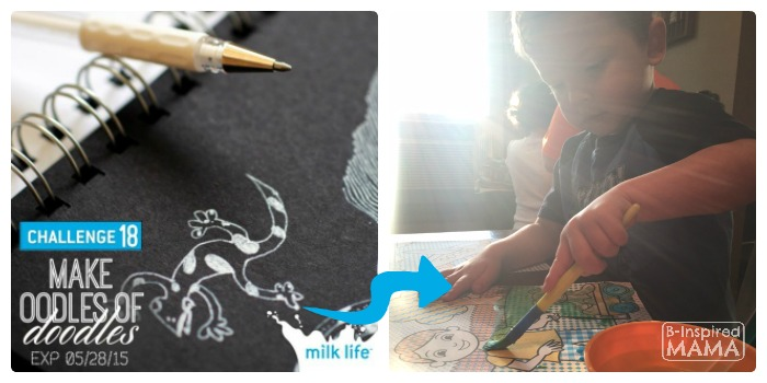 How to #MilkLife and Connect with Your Kids - Connecting through Creating - at B-Inspired Mama