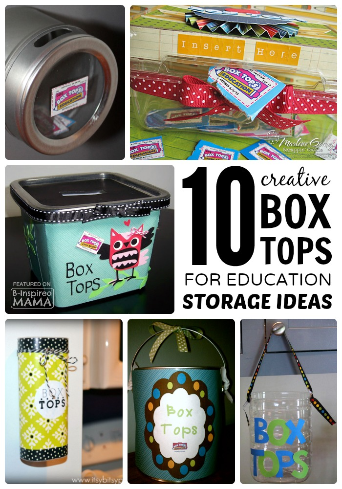10 Creative Box Tops Storage Ideas at B-Inspired Mama  sc 1 st  B-Inspired Mama & Box Tops Bingo Grocery Shopping Game Aboutintivar.Com