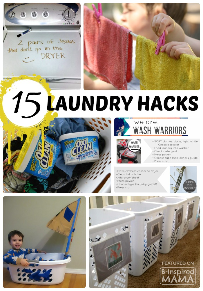 15 Real Life Laundry Hacks for Moms - Sponsored by OxiClean at B-Inspired Mama