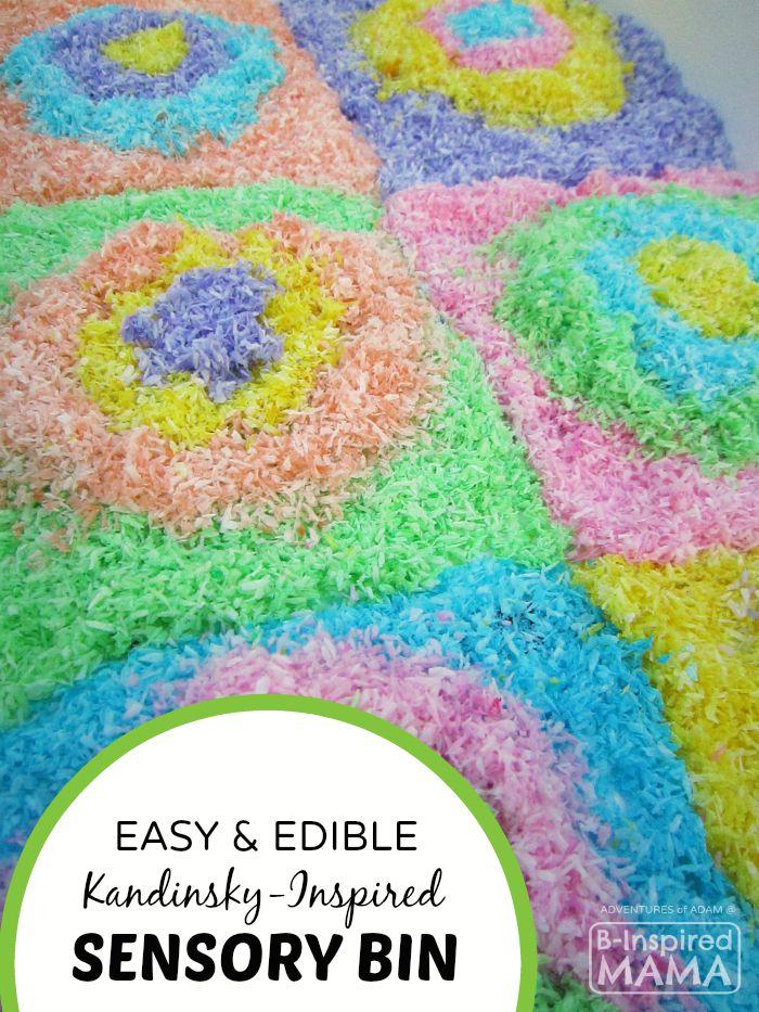 Edible Kandinsky-Inspired Sensory Bin