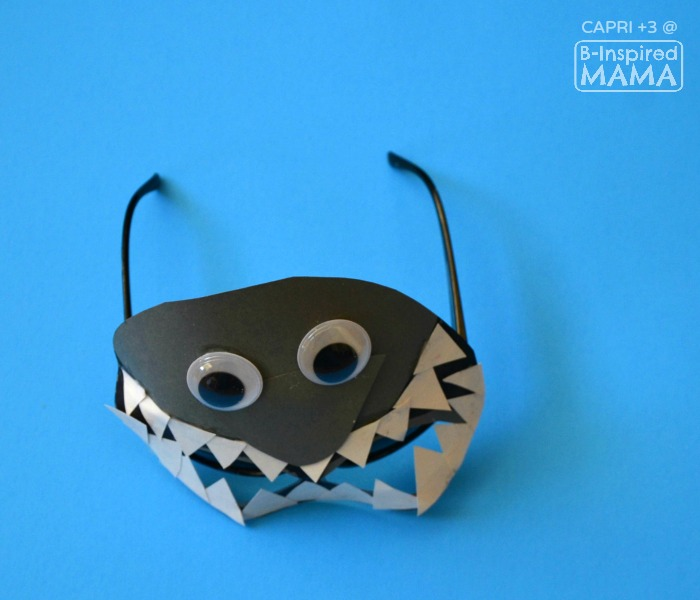 Super Cool Shark Mask Craft for Kids - at B-Inspired Mama
