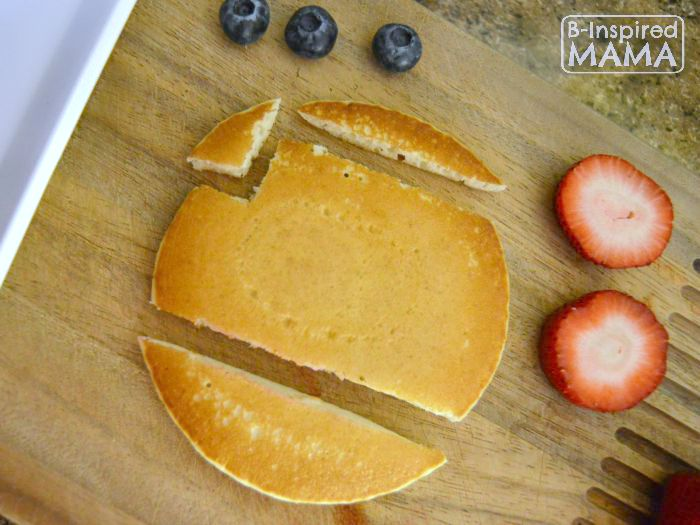 Sweet School Bus Back to School Breakfast - Cutting Our Pancake School Bus - B-Inspired Mama