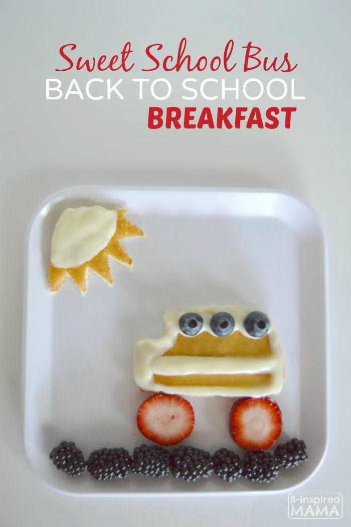 Sweet School Bus Back to School Breakfast
