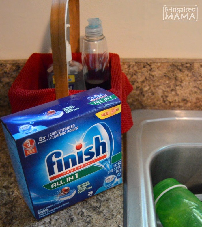 Using Finish + 6 Kitchen Chores for Kids at B-Inspired Mama