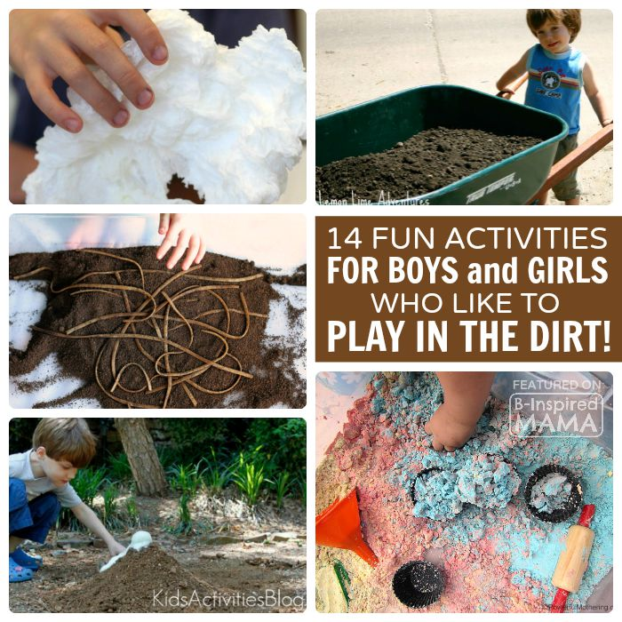 14 Fun Activities for Kids Who Love to Play in the Dirt - at B-Inspired Mama
