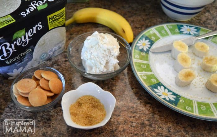 Ingredients for our Ice Cream Banana Pudding - B-Inspired Mama