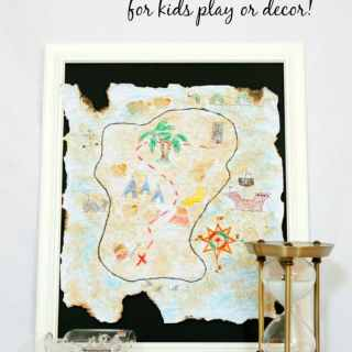 Make a Treasure Map for Play or Decor