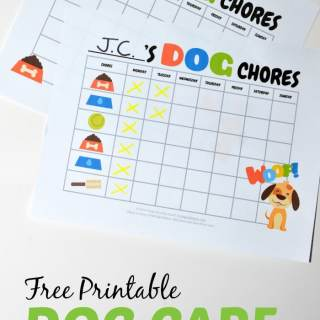 Printable Dog Care Chore Chart for Kids