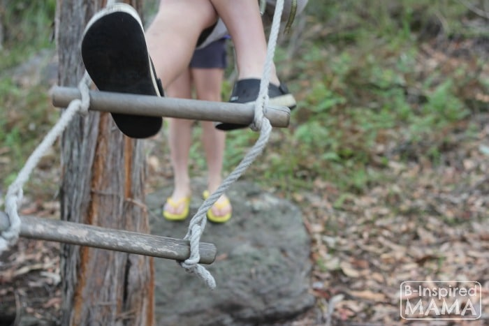 Going on a Bear Hunt Activity - Climbing - at B-Inspired Mama