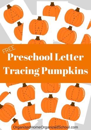 Pumpkin Letter Tracing Printables