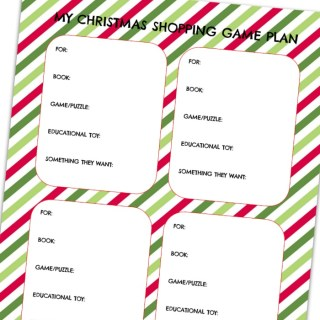 A Christmas Shopping List Printable to Simplify the Holidays