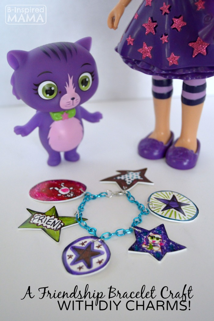 Kids Friendship Charm Bracelet Craft - With Special DIY Charms - at B-Inspired Mama