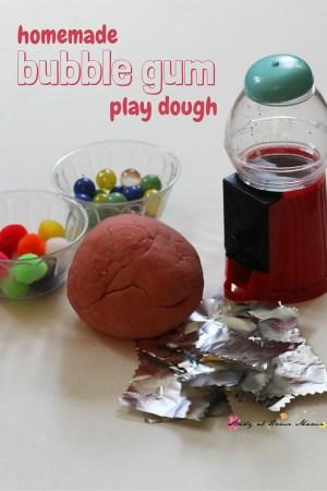 Bubble Gum Homemade Play Dough
