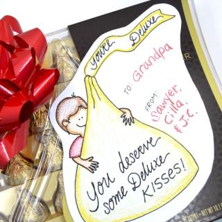 A Printable Gift Tag for a Sweet Gift of Hershey's KISSES