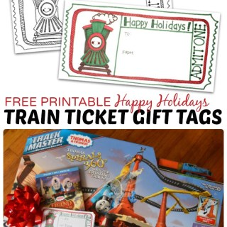 FREE Printable Gift Tags for a Train Holiday Gift