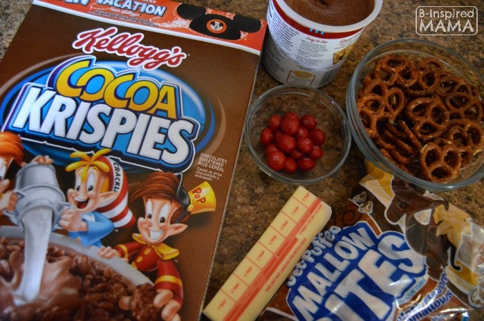 Triple Chocolate Rice Krispies Treats - Ingredients - at B-Inspired Mama
