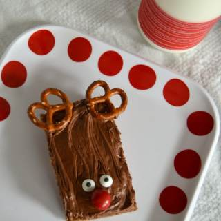 Triple Chocolate Reindeer Rice Krispies® Treats