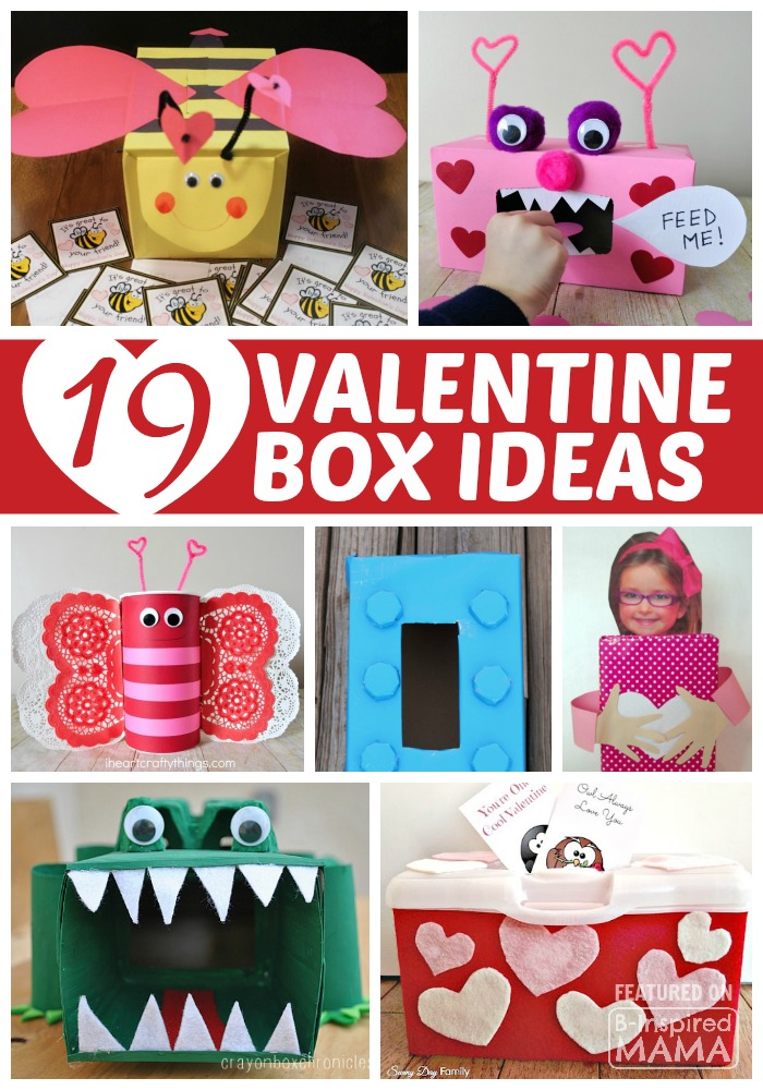 19 Clever and Creative Valentine Box Ideas for Kids - at B-Inspired Mama