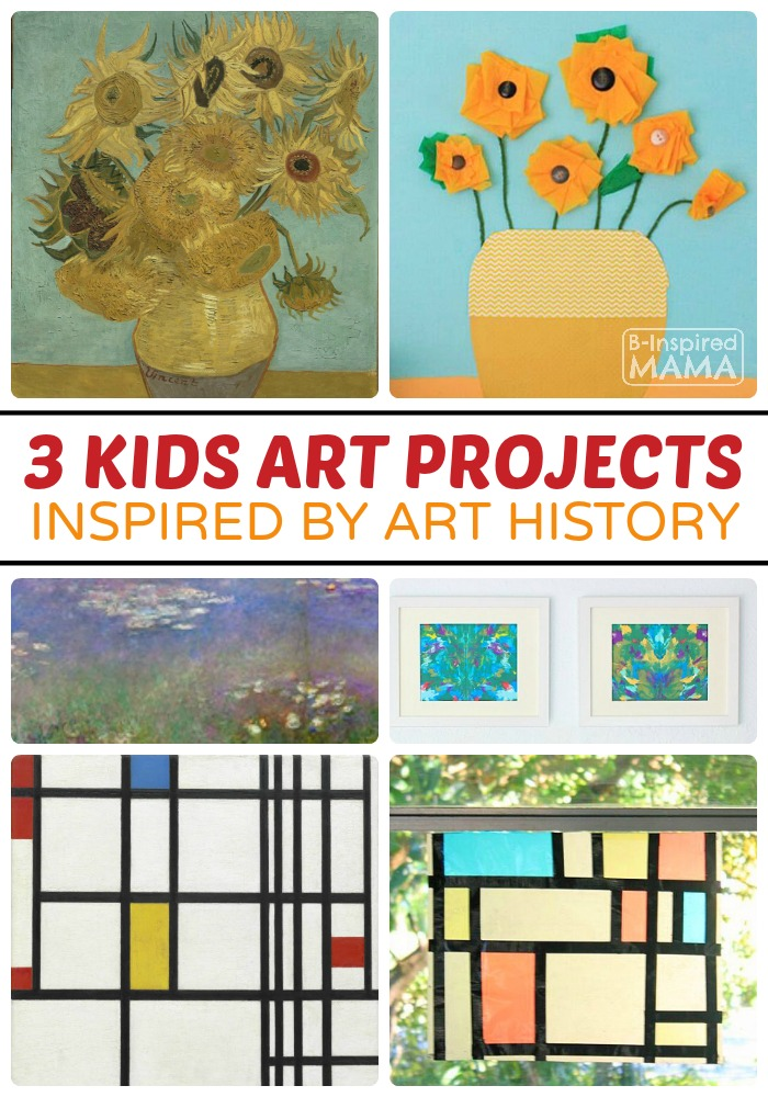 3 Kids Art Projects Inspired by Art History