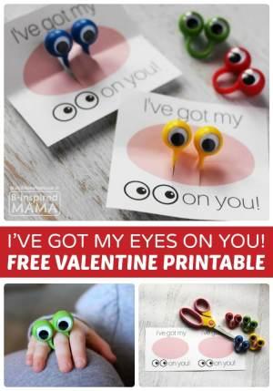 I've Got my Eyes on You Valentine + FREE Valentines Printables - B-Inspired Mama